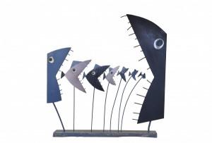 Œuvre de Christian Cébé d'après un dessin de Wozniak. Cliché Ville de Brive-Brivemag'/S. Marchou.